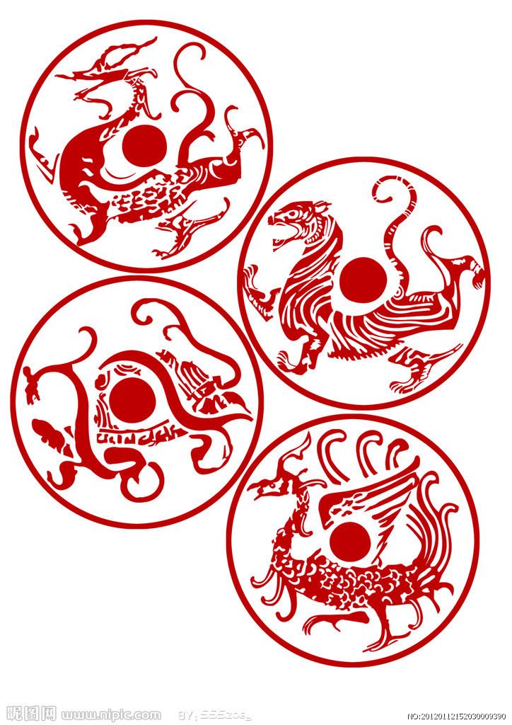 折叠 编辑本段 星宿说 左青龙,右白虎,北玄武,南朱雀