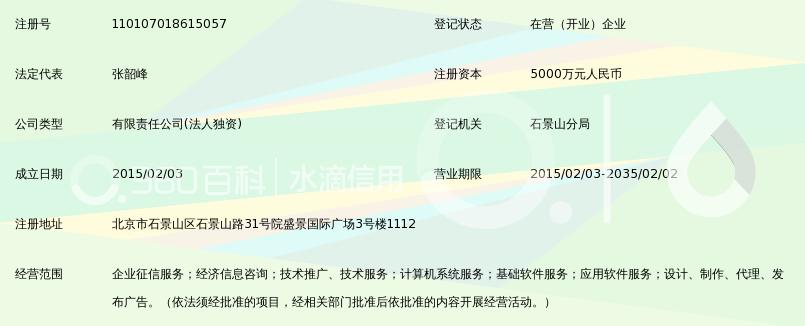 百融至信(北京)征信有限公司_360百科