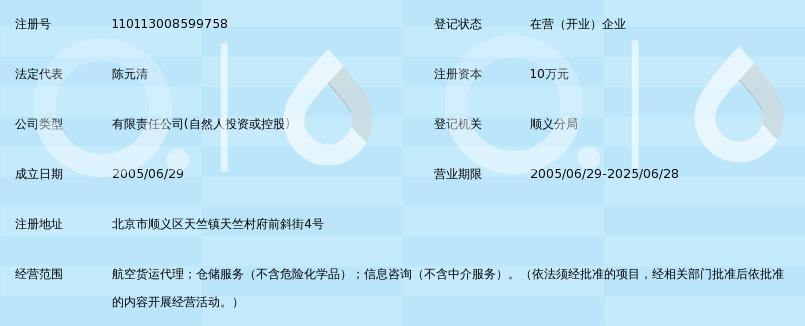 北京飞鹰快达航空货运代理服务有限公司_360