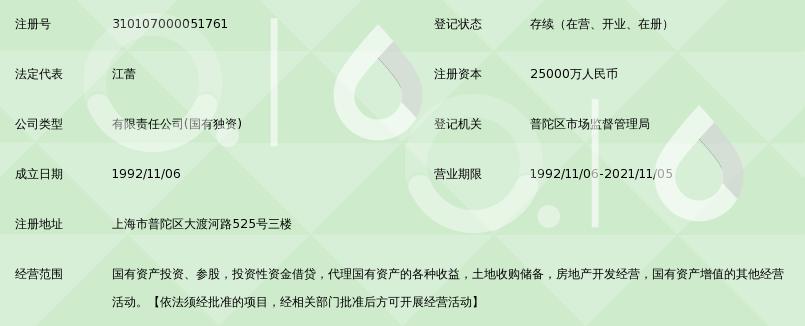 上海市普陀区国有资产经营有限公司